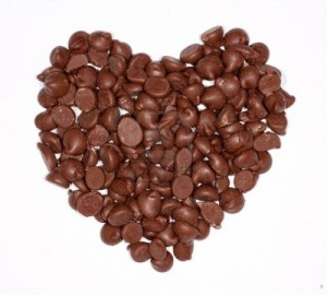 chocolate chip heart
