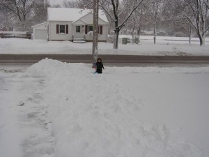 We could really use a snowplow around here today.