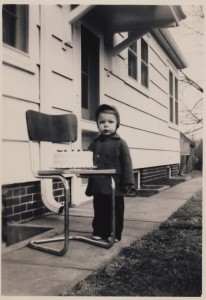 My dear old dad at 3 years old. I love this picture because it perfectly illustrates the Harms family motto: Stalwart from Birth.