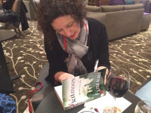 Signing my first books even though not officially pubbed yet. Thrilling!